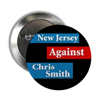 New Jersey Against Chris Smith (NJ Congressional Campaign Button)