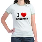I Love Baudette Jr. Ringer T-Shirt