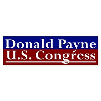 Re-Elect Donald Payne to the United States Congress Bumper Sticker for the New Jersey Congressional Campaign