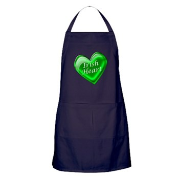 Irish Heart Candy Heart Apron (dark)