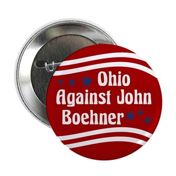 Ohio Against John Boehner (anti-Boehner campaign button)