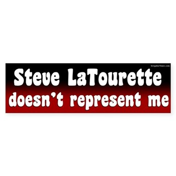 Steve LaTourette doesn't speak for me (anti-LaTourette bumper sticker)