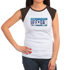 Uffda License Plate Shop Women's Cap Sleeve T-Shirt