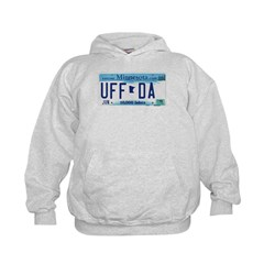 Uffda License Plate Shop Kids Hoodie