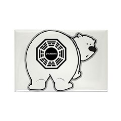 LOST: Dharma Initiative Polar Bear Rectangle Magnet