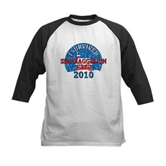 I Survived Snomaggedon Blizzard of 2010 Kids Baseball Jersey