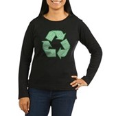 Path to Recycling Women's Long Sleeve Dark T-Shirt