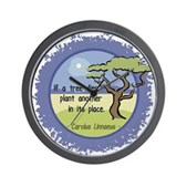 Linnaeus Quote Wall Clock