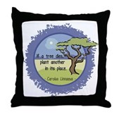 Linnaeus Quote Throw Pillow