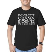 Logical Obama 2012 Men's Fitted T-Shirt (dark)