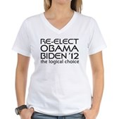 Logical Obama 2012 Women's V-Neck T-Shirt