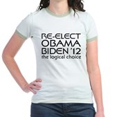 Logical Obama 2012 Jr. Ringer T-Shirt