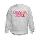 Obama Flowers 2012 Kids Sweatshirt
