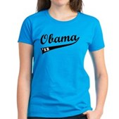Obama 2012 Swish Women's Dark T-Shirt