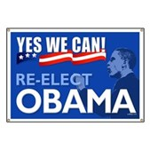 Yes We Can - Re-Elect Obama Banner