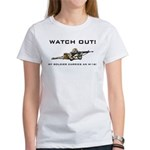 WATCH OUT! MY SOLDIER CARRIES AN M-16! Women's T-S