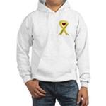 Yellow Ribbon Love Miss Soldier Hooded Sweatshirt