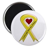 "Yellow Ribbon Love Miss Airman 2.25"" Magnet (10 pa"