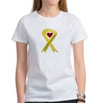 Yellow Ribbon Love Miss Airman Women's T-Shirt