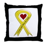 Yellow Ribbon Love Miss Sailor Throw Pillow