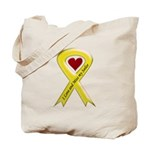 Yellow Ribbon Love Miss Sailor Tote Bag