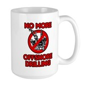 No More Offshore Drilling Large Mug