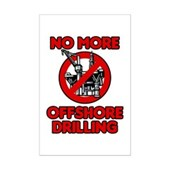 No More Offshore Drilling Mini Poster Print