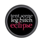 Tent Scene, Leg Hitch, Eclipse Wall Clock