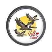 Gulf Coast Pelicans Wall Clock