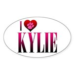 I Heart Kylie Sticker (Oval 10 pk)