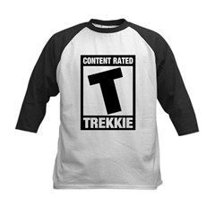 Content Rated T: Trekkie Kids Baseball Jersey