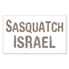 Sasquatch Israel!! Sticker (Rectangle)