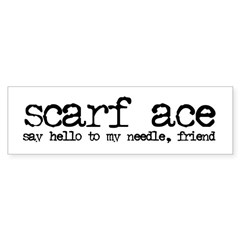 Scarf Ace Sticker (Bumper)
