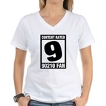 Content Rated 9: 90210 Fan Women's V-Neck T-Shirt