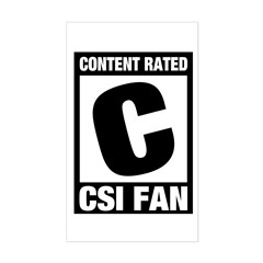 Content Rated C: CSI Fan Sticker (Rectangle)
