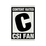 Content Rated C: CSI Fan Rectangle Magnet