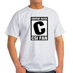 Content Rated C: CSI Fan Light T-Shirt