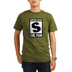 Content Rated S: SNL Fan Organic Men's T-Shirt (dark)