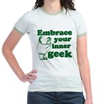 Embrace Your Inner Geek Jr. Ringer T-Shirt