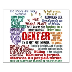 Dexter Quotes Collage Small Poster