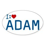 I Heart Adam Sticker (Oval)