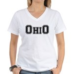 OhiO Boobies Women's V-Neck T-Shirt