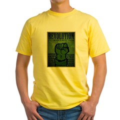 Middle East Revolution 2011 T Yellow T-Shirt