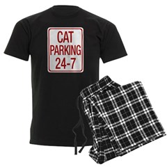 Cat Parking Men's Dark Pajamas