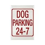 Dog Parking Rectangle Magnet