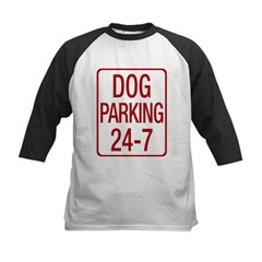 Dog Parking Kids Baseball Jersey