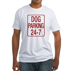 Dog Parking Fitted T-Shirt