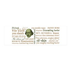 Shakespeare Insults T-shirts & Gifts 20x6 Wall Decal