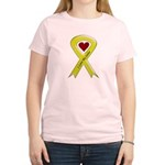 I love my Sailor - Yellow Ribbon Women's Pink T-Sh
