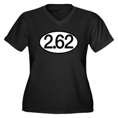 2.62 Women's Plus Size V-Neck Dark T-Shirt